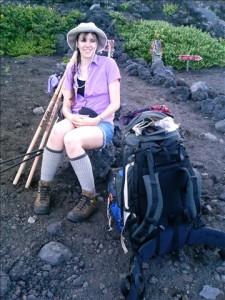 Lacey Chicadita on Mt. Fuji