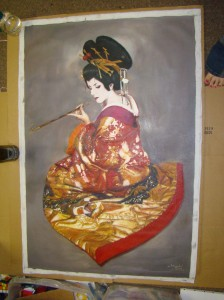 Oiran Oil Painting