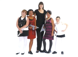 Ms. Lacey with Class Act Dance Musical Theatre Students 2011