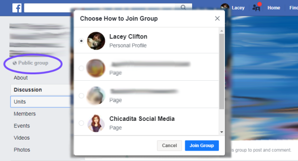 add a business page to a Facebook group